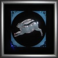 """Картина с кристаллами Сваровски """"Символ года-кролик"""""""