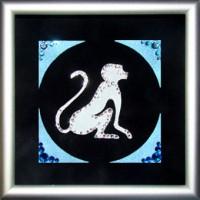 """Картина с кристаллами Сваровски """"Символ года-обезьяна"""""""