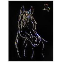 """Картина с кристаллами Сваровски """"Символ года - лошадь"""""""