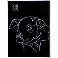 """Картина с кристаллами Сваровски """"символ года - свинья"""""""