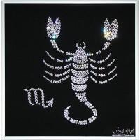 """Картина с кристаллами Сваровски """"Скорпион"""""""
