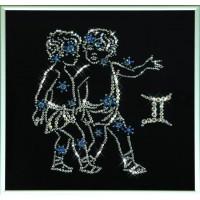 """Картина с кристаллами Сваровски """"Звездные близнецы"""""""