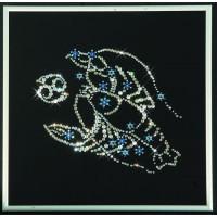 """Картина с кристаллами Сваровски """"Звездный рак"""""""