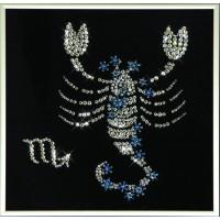 """Картина с кристаллами Сваровски """"Звездный скорпион"""""""