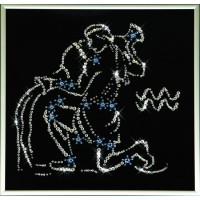 """Картина с кристаллами Сваровски """"Звездный водолей"""""""