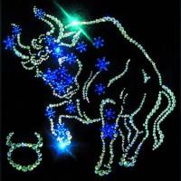 """Картина с кристаллами Сваровски """"Звёздный Телец"""""""