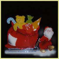 "Картина Swarovski ""Дед Мороз с подарками"""