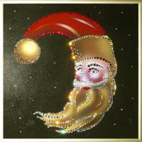 """Картина Swarovski """"Новогодний месяц"""""""