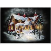 "Картина Swarovski ""Рождественский домик"""