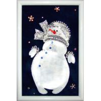 """Картина Swarovski """"Снеговик"""""""
