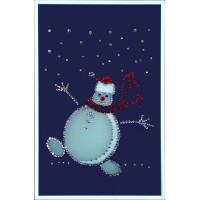 "Картина Swarovski ""Веселый снеговик"""