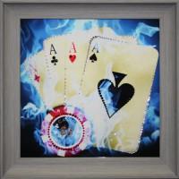 "Картина с кристаллами Swarovski ""Покер"""
